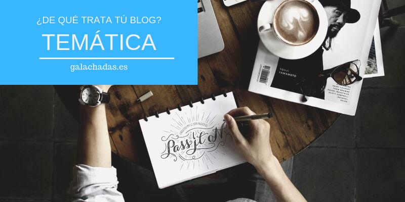 Escoger temática del blog